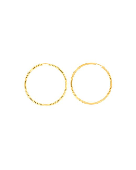 Azendi | Metallic Gold Plated Silver Hoops 4.5cm | Lyst