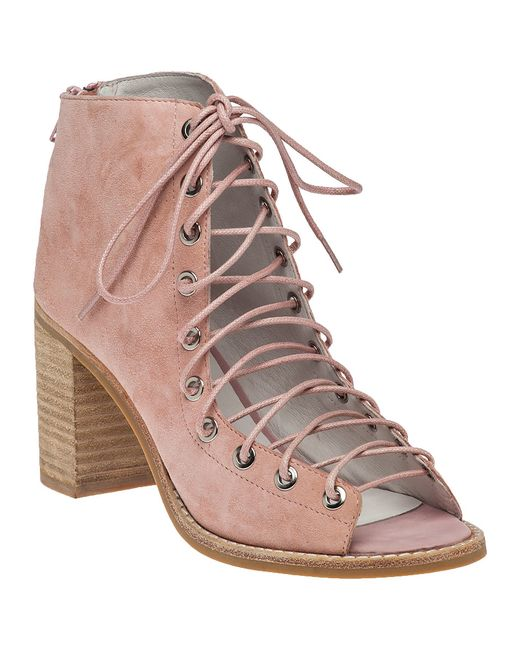 jeffrey cbell cors lace up suede boots in pink lyst
