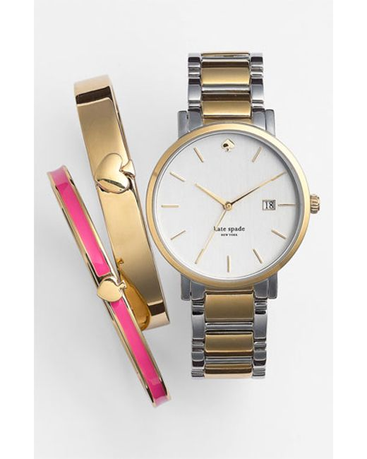 Kate spade 'gramercy' Bracelet Watch in Silver (SILVER ...
