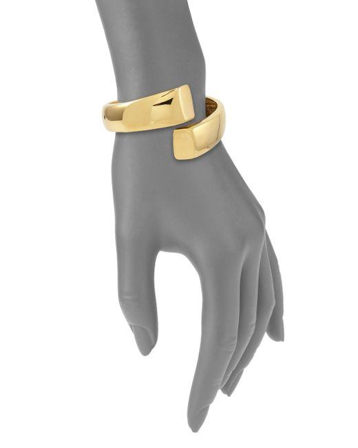 Kenneth Jay Lane | Metallic Wrap Cuff Bracelet | Lyst