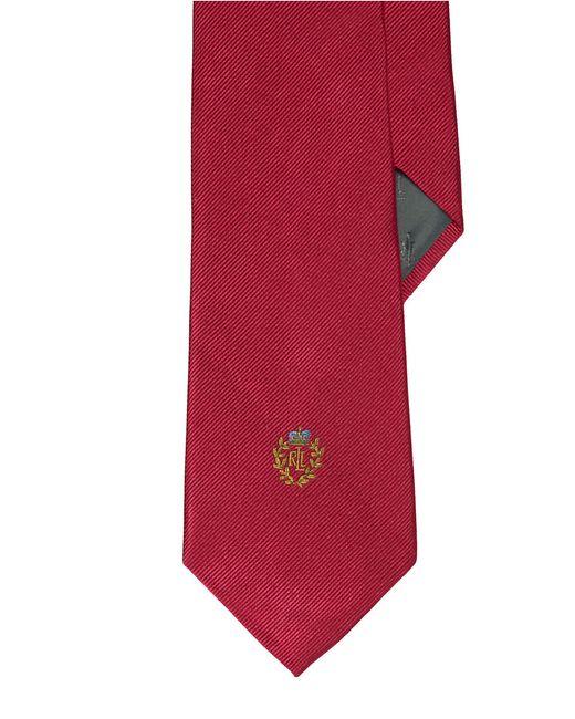 Lauren by Ralph Lauren   Red Signature Crest Silk Tie for Men   Lyst