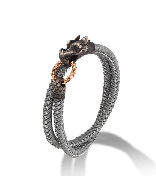 John Hardy | Metallic Men's Naga Double Wrap Dragon Cord Bracelet for Men | Lyst