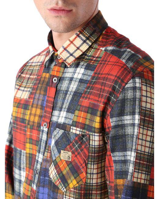 DIESEL | Red Shirt for Men | Lyst