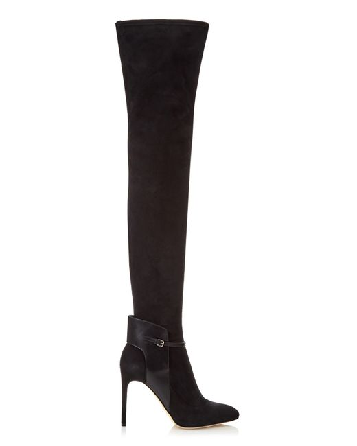 Sergio Rossi   Black Stretch-suede Over-the-knee Boots   Lyst