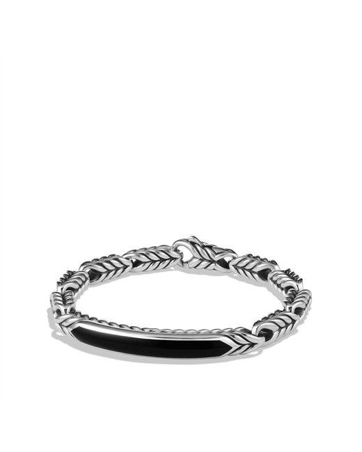 David Yurman   Chevron Id Bracelet with Black Onyx for Men   Lyst