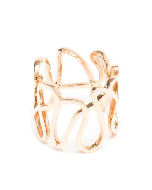 Repossi | Pink 18k Rose Gold White Noise Ring | Lyst