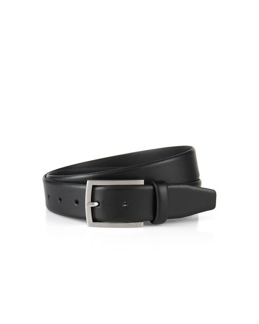 HUGO | Black Smooth Leather Belt: 'c-barney-l' for Men | Lyst
