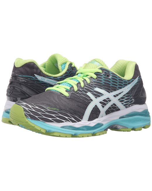 asics gel nimbus 18 in green lyst. Black Bedroom Furniture Sets. Home Design Ideas