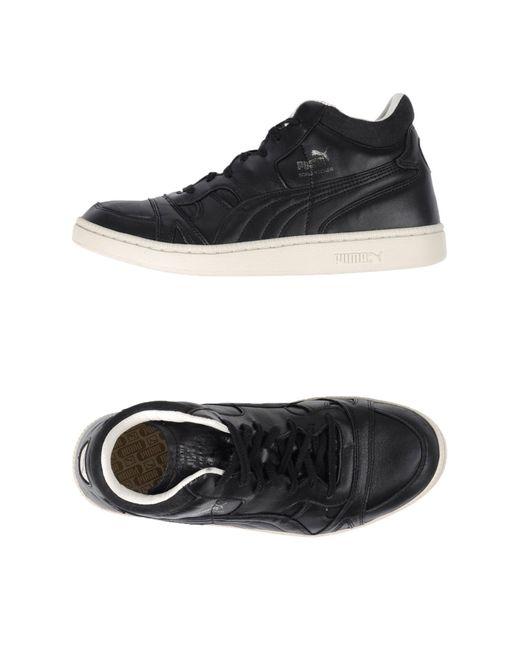 puma hightops amp sneakers in black for men lyst