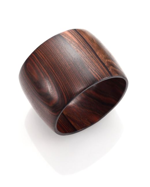 Nest | Black Ebony Wood Wide Bangle Bracelet | Lyst
