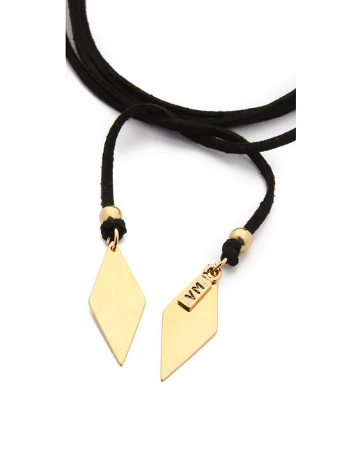 Vanessa Mooney | Black Charm Wrap Necklace | Lyst