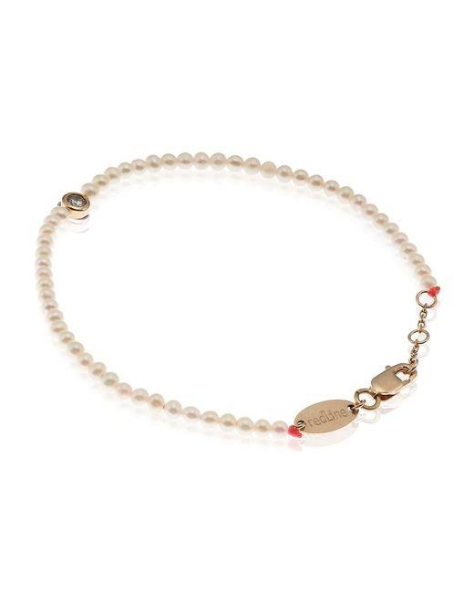 RedLine | White Pearl And Diamond Bracelet | Lyst