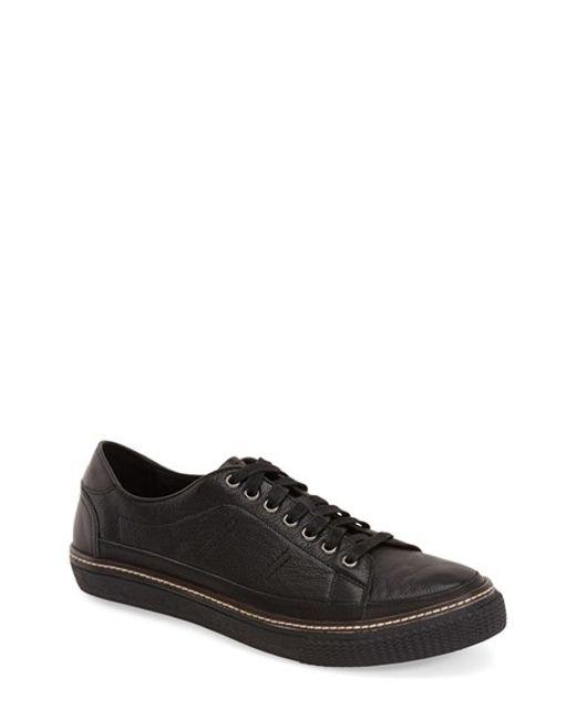 Joe's Jeans   Black David Leather Low-Top Sneakers for Men   Lyst