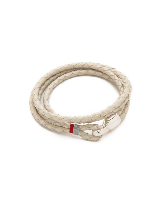 Miansai | Gray Trice Woven Leather Wrap Bracelet for Men | Lyst