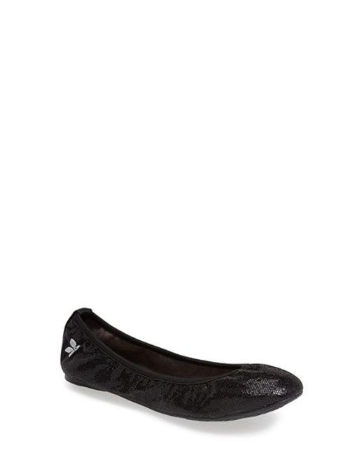 Butterfly Twists | Black 'samantha' Folding Ballerina Flat | Lyst