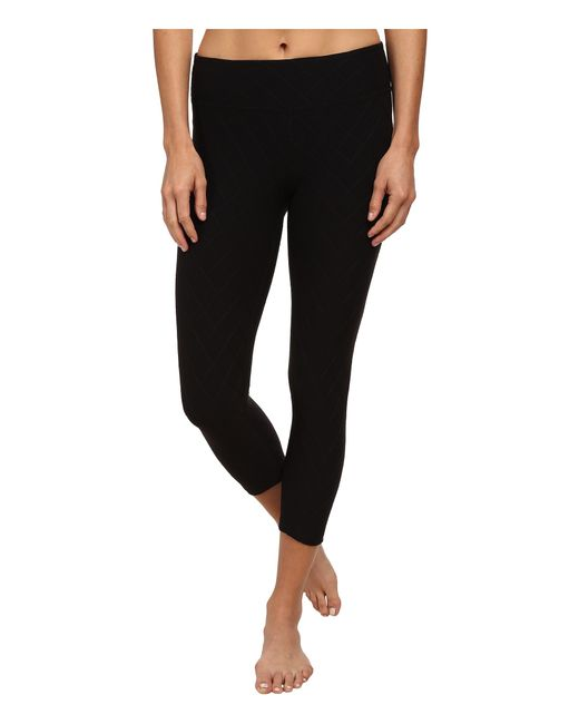 Beyond Yoga | Black Quilted Capri Legging | Lyst