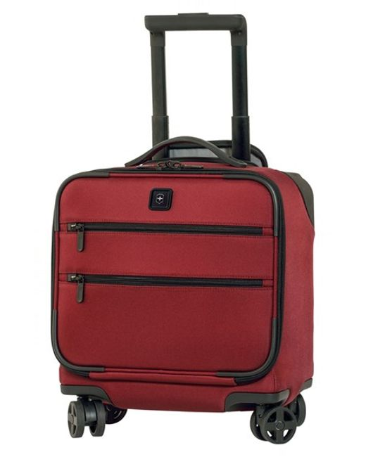 Victorinox | Red Victorinox Swiss Army 'lexicon' Dual Caster Wheeled Boarding Tote for Men | Lyst