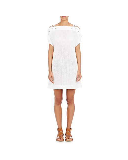 Thakoon | White Shoulder-tie Shift Dress | Lyst