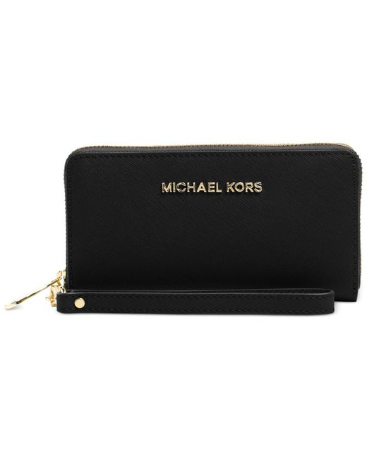 Michael Kors | Black Michael Jet Set Travel Coin Multifunction Wallet | Lyst