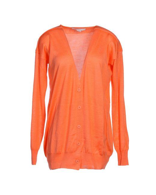 Stella McCartney   Orange Cardigan   Lyst