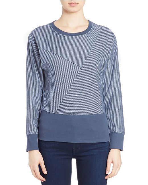 William Rast | Blue Textured Sweatshirt | Lyst