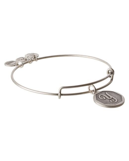 ALEX AND ANI | Metallic Initial Y Charm Bangle | Lyst