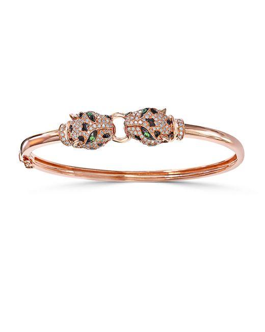 Effy Signature Diamond Tsavorite And 14k Rose Gold