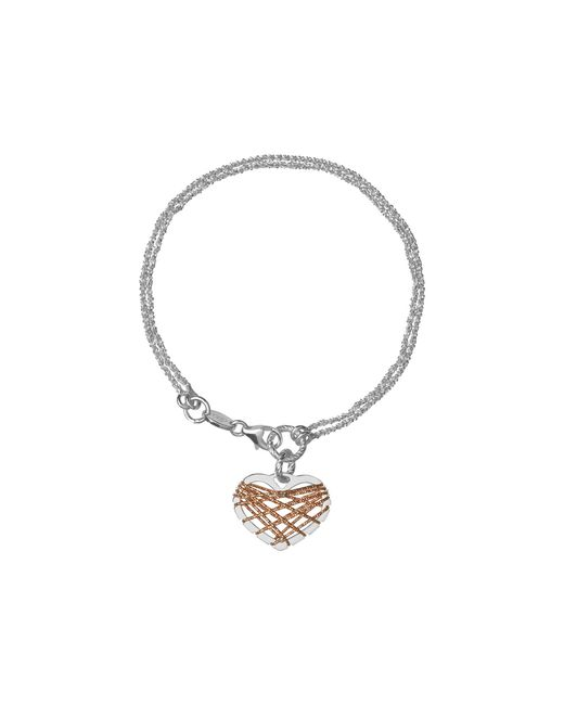 Links of London | Metallic Dream Catcher Heart Rose Gold Bracelet | Lyst
