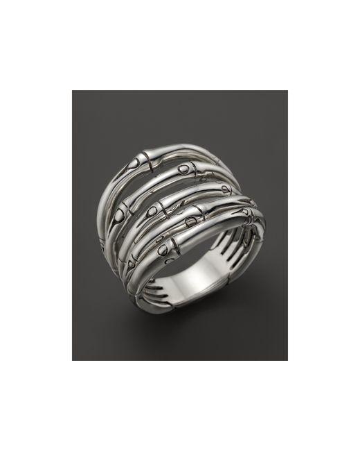 John Hardy | Metallic Bamboo Silver Wide Ring | Lyst