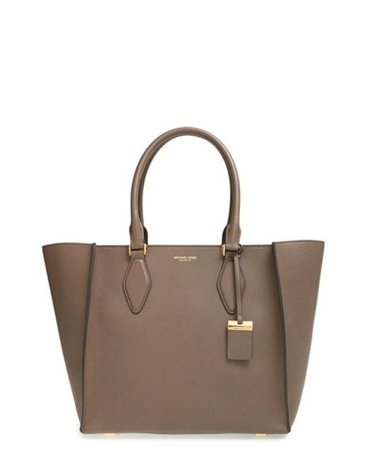Michael Kors | Brown 'large Gracie' Leather Tote | Lyst