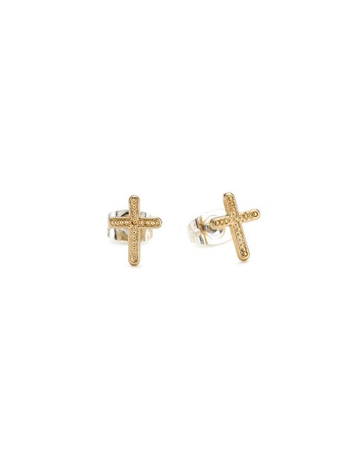 Bing Bang | Yellow Vivienne Cross Studs | Lyst