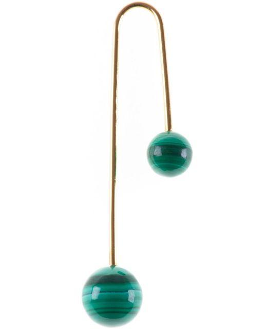 Asherali Knopfer | Green Interchangeable Bar Earring | Lyst