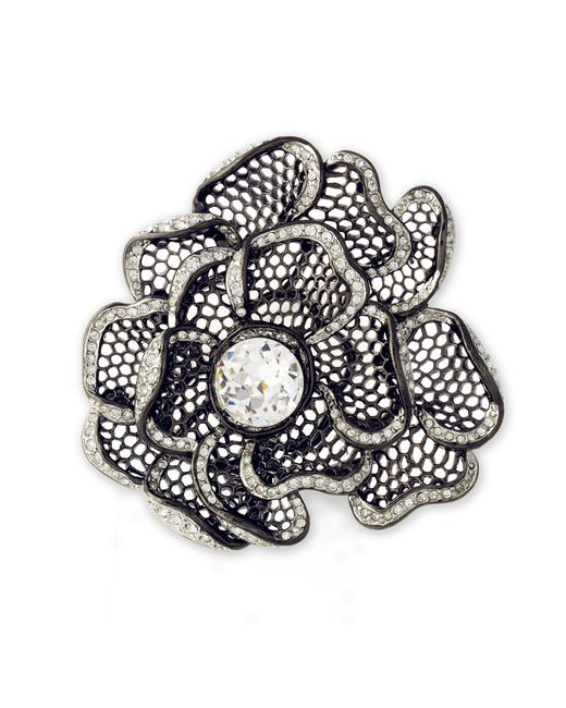Kenneth Jay Lane | Metallic Flower Brooch | Lyst