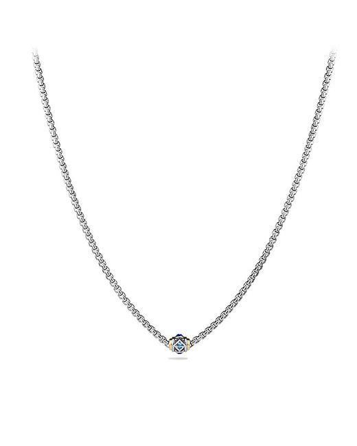 David Yurman | Necklace With Blue Topaz, Lapis Lazuli And 18k Gold | Lyst