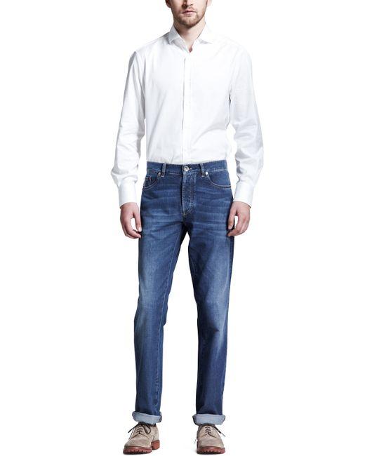 Brunello Cucinelli | Blue Lightweight Medium Wash Jeans for Men | Lyst