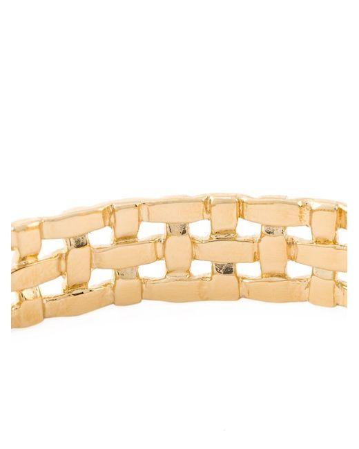 Aurelie Bidermann | Metallic 18kt Gold Plated 'marella' Bracelet | Lyst