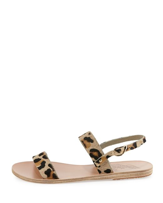 Ancient Greek Sandals Clio Leopard Print Sandals In Animal