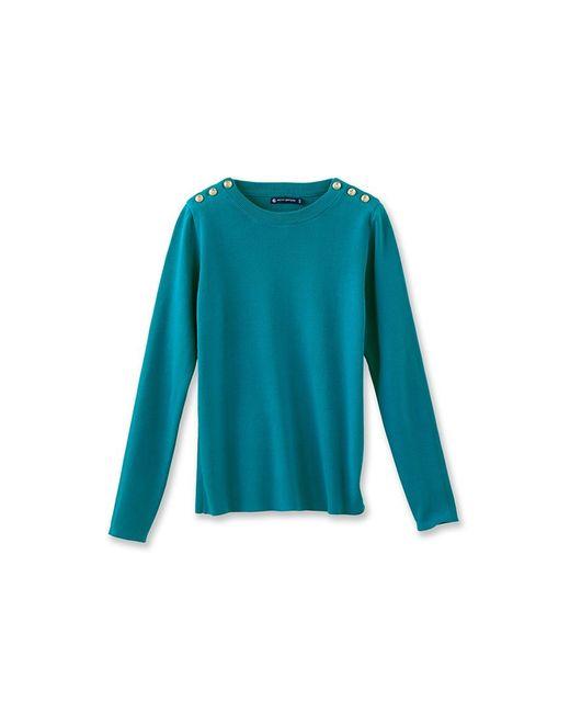 Petit Bateau | Green Women's Plain Sailor Sweater | Lyst