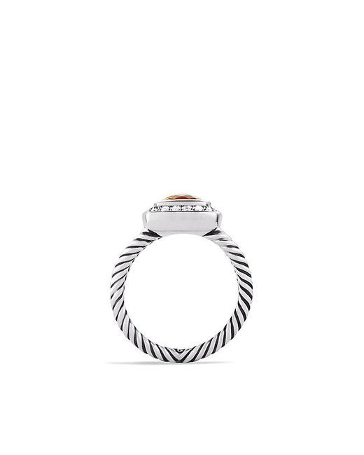 David Yurman   Metallic Petite Albion Ring With Citrine And Diamonds   Lyst