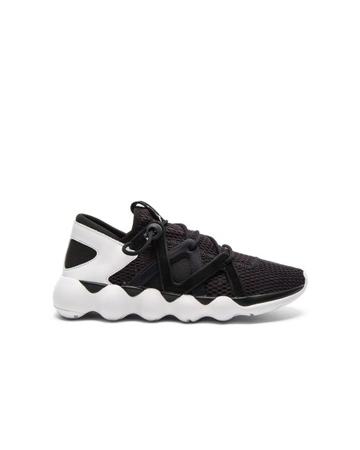 Y-3 | Blue Black/white Kyujo Low Trainers for Men | Lyst