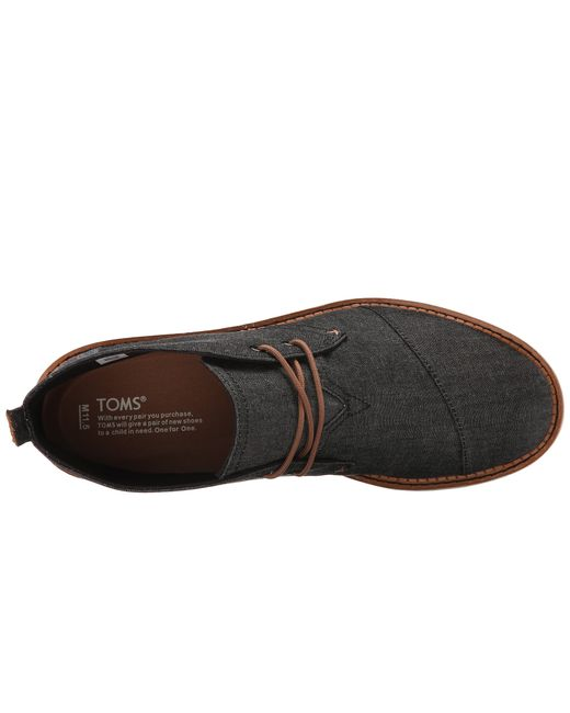 TOMS | Black Mateo Canvas Chukka Boots for Men | Lyst