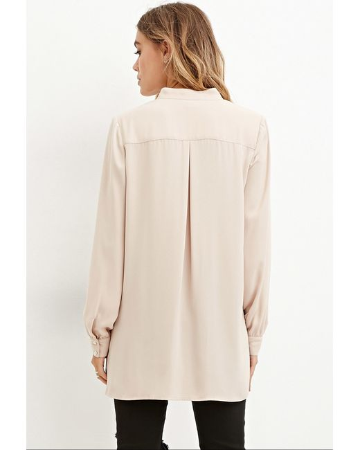 Forever 21 | Natural Drapey Surplice Top | Lyst
