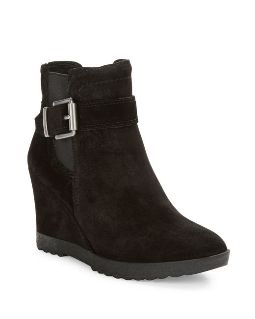 Vince Camuto | Black Landri Suede Wedge Boots | Lyst