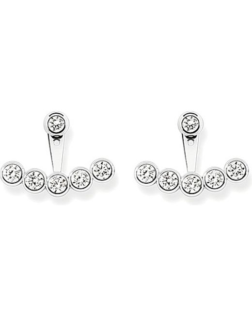 Thomas Sabo | Metallic Sterling Silver And White Pavé Zirconia Ear Jackets | Lyst