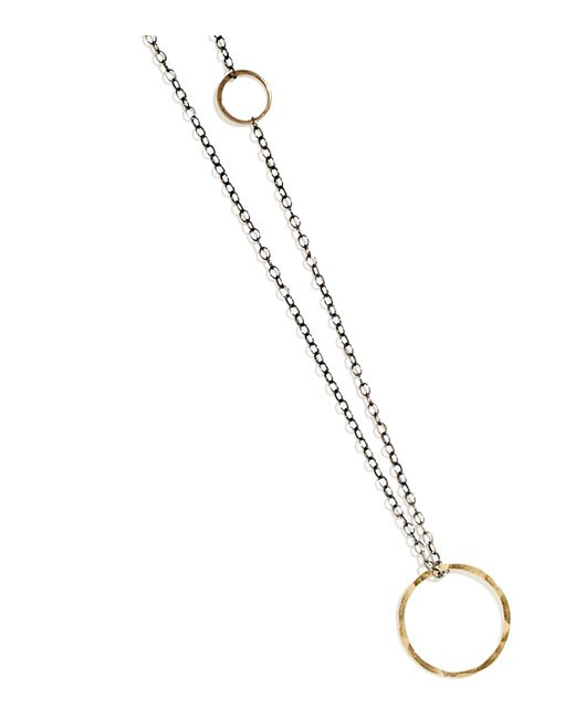 Melissa Joy Manning | Metallic Textured Gold Pendant Necklace | Lyst