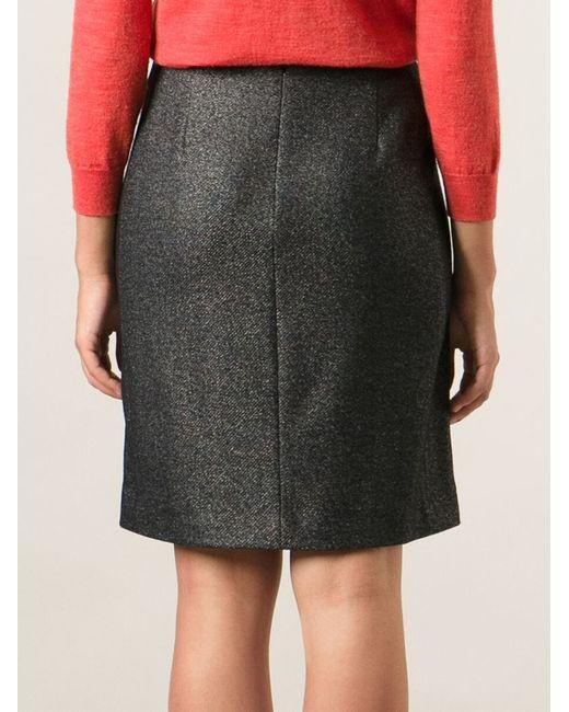 Paul smith Wrap Around Midi Skirt in Gray | Lyst