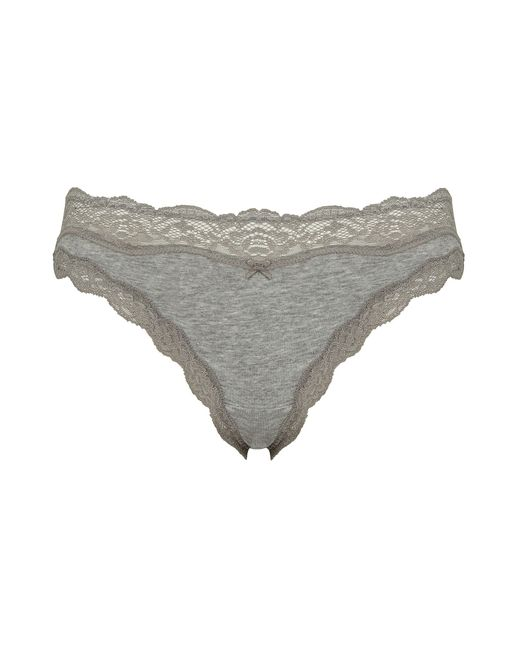 DKNY | Gray Downtown Cotton Bikini | Lyst