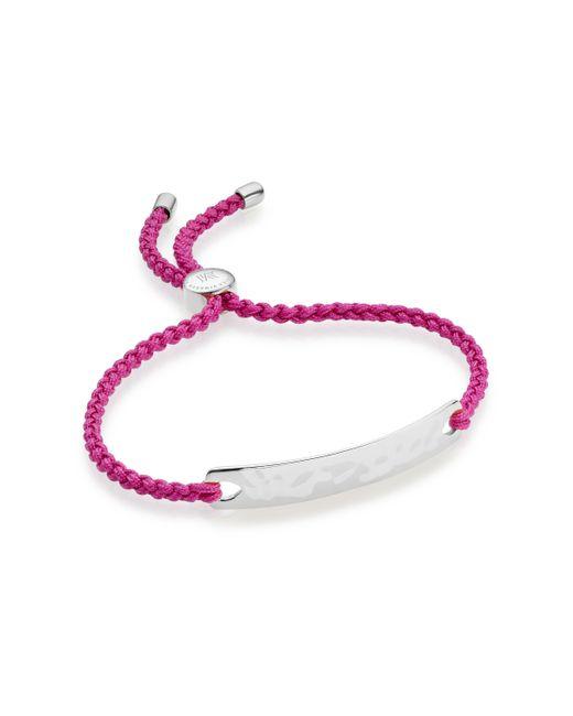 Monica Vinader   Metallic Sterling Silver Fiji Full Pave Diamond Bracelet   Lyst