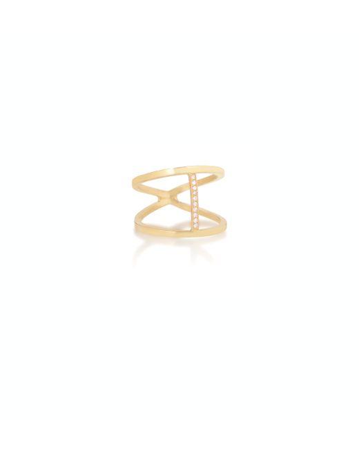 Zoe Chicco   Metallic 14k Open Cross Bar Ring   Lyst