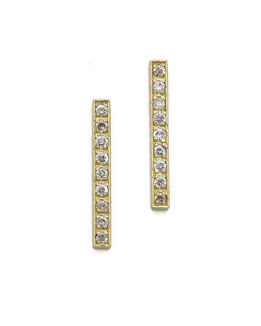 Jennifer Meyer | Metallic 18k Gold Bar Diamond Stud Earrings | Lyst